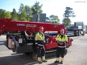 Subestaciones eléctricas de Noruega adquieren grúas UNIC