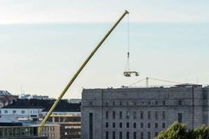 Una OMMELIFT 3000 RBD en el Parlamento finlandés