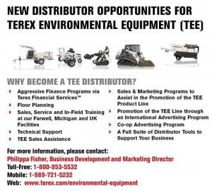 Terex Equipment Ambiental busca distribuidores