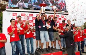 El equipo de Linde Barcelona, Campeón de la Copa Nacional de Carretilleros 2014