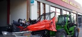 Agromelca entrega del primer equipo recolector en Bragança, Portugal , a través de MANUEL MELES, LDA.