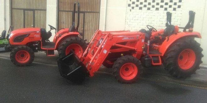 Los tractores Kioti presentes en la feria de Lesaka