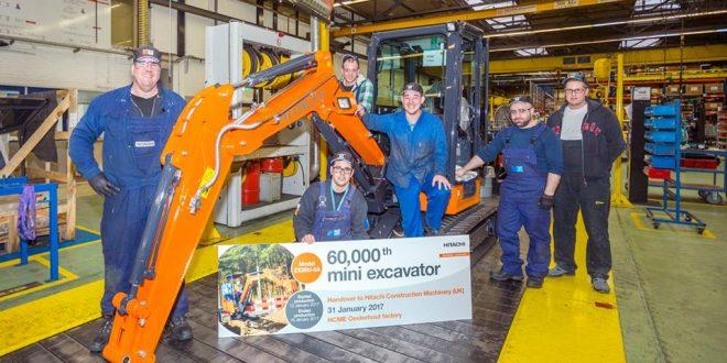Entregada la 60,000 ª mini excavadora de #Hitachi a HCMUK