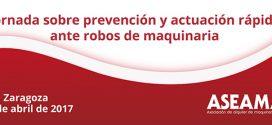 Jornada sobre prevención y actuación rápida ante robos de #maquinaria
