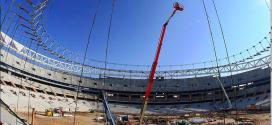 #Vamasa utiliza la ULTRABOOM 1850SJ de #JLG en el nuevo estadio del Atlético de Madrid