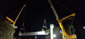 #Mamut de Colombia construye con varias grúas móviles #Liebherr una nueva línea de metro en la ciudad de Panamá