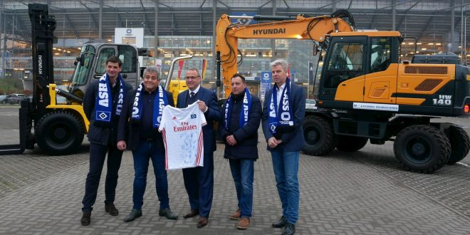 HYUNDAI CONSTRUCTION EQUIPMENT socio del club de fútbol de primera división HSV GO