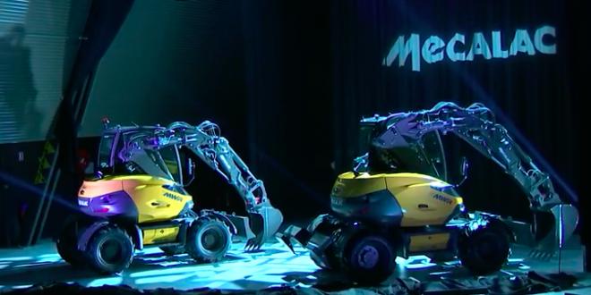 Nueva gama Mecalac de excavadoras de ruedas