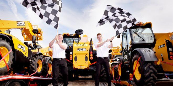 Manipuladoras telescópicas JCB protagonistas en la carrera de Fórmula I en Silverstone