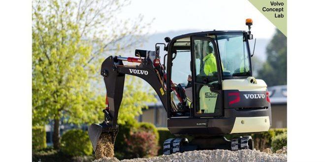 VOLVO CEpresenta el prototipo eléctrico demini excavadora