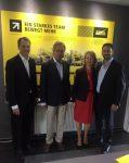Klaus Beulker (Senior Director Operations, Terex Cranes), Karl Trippel (Technical Director, Steil Kranarbeiten), Birgit Steil (Managing Director, Steil Kranarbeiten), Steve Filipov (President, Terex Cranes).