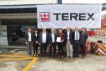 James Poon (Acting CEO, CWA), June Koh (General Manager, CWA), Nabil Al Zahlawi (Managing Director, NFT), Roger Poon (Director, CWA), Zac Tan (Sales Manager, Terex Cranes), Marco Gentilini (Vice President & General Manager, Terex Cranes), Nicola Castenetto (Business Development Manager, Terex Cranes), Kenny Phoon (Acting COO, CWA)