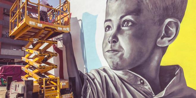 Los grafitis llenan de color Torrefarrera, con la ayuda de ALCO Grupo