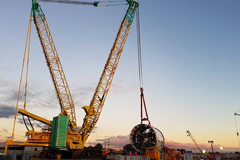 Una grúa Manitowoc MLC650 de Tutt Bryant inicia un proyecto ferroviario australiano