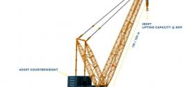 Sarens presenta su nueva grúa súper pesada, la SGC-140