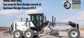 HİDROMEK gana el German Design Award con su motoniveladora HMK 600 MG