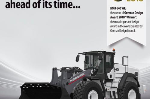 HİDROMEK con la cargadora sobre ruedas HMK 640 WL en los German Design Awards