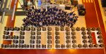 Half a million and counting....JCB today celebrated the production of its 500,000th engine. Employees at JCB Power Systems are pictured marking the occasion in front of the milestone figure spelt out in engines.