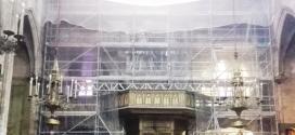 Alco en la restauración de la Basílica de los Santos Mártires en Barcelona