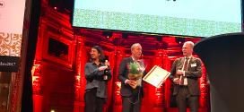 Kai Wärn, presidente y CEO de Husqvarna Group,  galardonado
