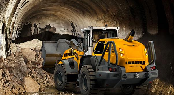 Cuatro palas cargadoras XPower® de Liebherr en versión para túneles