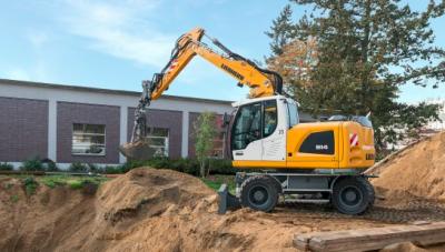 Liebherr presenta en Intermat la excavadora sobre neumáticos A 914 Litronic  IV/Tier 4f