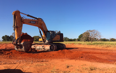 Las grandes excavadoras SANY  para el mercado minero en Brasil