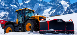 JCB Fastrac a miles de metros de altura en los Alpes franceses