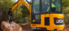 JCB amplía su gama de mini excavadoras con el lanzamiento del 15C-1
