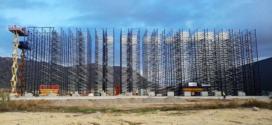 Plataformas de Vamasa-Mateco en la construcción del centro logístico de Alicante