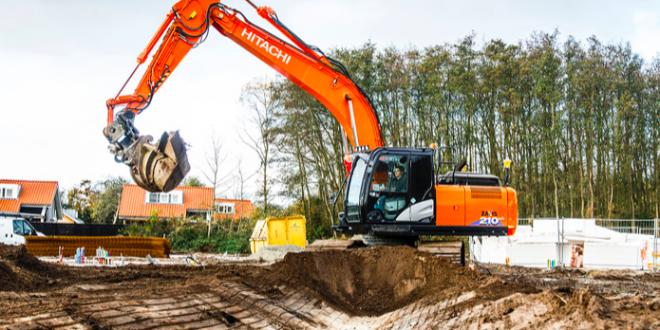 Una excavadora Hitachi ZX210LC-6 en un proyecto desafiante en los Países Bajos
