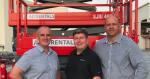 Dean Jones (General Manager AJI), David Hall (Skyjack), Hannes Van Graan (Technical Manager AJI)