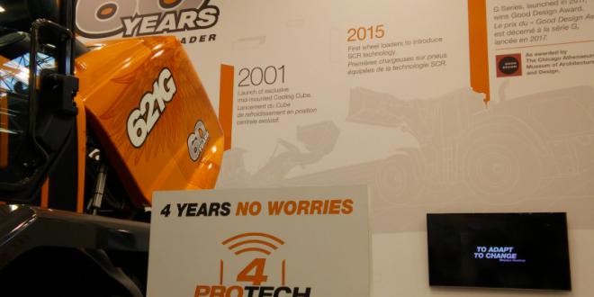 CASE celebra 60 años de fabricación de cargadoras de neumáticos en Intermat