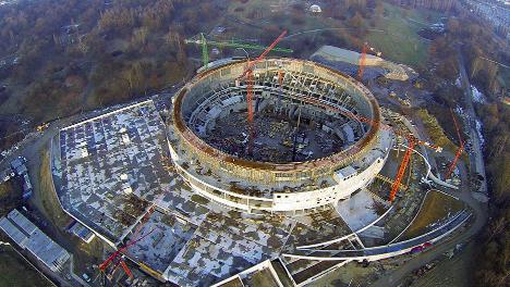 ULMA Construction en el Tauron Arena, el pabellón de deportes más grande de Polonia