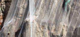 Cortina de protección en la mina Tecco® System3 de Geobrugg