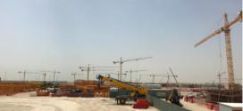 Grúas Potain en una nueva terminal en el Aeropuerto Internacional de Kuwait
