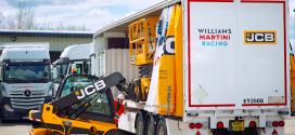 JCB en el Gran Prix Europeo de Fórmula Uno
