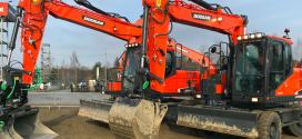 Nuevas opciones SVAB/Steelwrist para la gama de cargadoras de ruedas Doosan