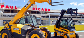 Máquinas JCB en la pole position del Gran Premio de Francia de Fórmula Uno