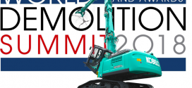 Kobelco en la cumbre mundial de la demolición como patrocinador de bronce