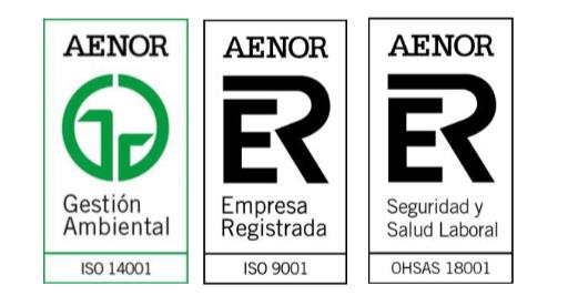 LOXAM-HUNE supera con éxito las auditorias de certificación de Calidad, Medio ambiente y OHSAS