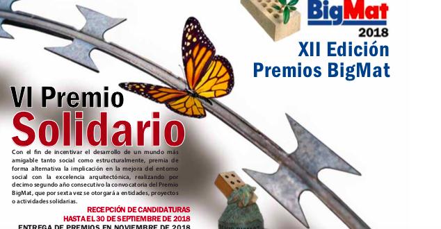 BIGMAT convoca la XII edición de los Premios Solidarios BIGMAT 2018.