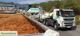Distribución de biomasa con la Telebelt 130 de Transgruma