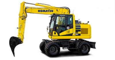 Komatsu Europe presenta la nueva excavadora de ruedas PW160-11