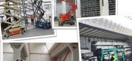 LOXAM-HUNE en la obra de la nueva central logística de Maroyal