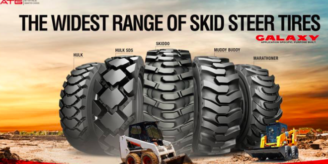 La gama de neumáticos para mini cargadoras Galaxy de ATG