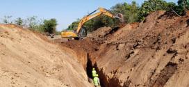 CASE aporta su fuerza en las obras del acueducto de Yacuy, Tartagal