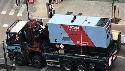 LOXAM-HUNE Power suministra energía en un parón de Valencia