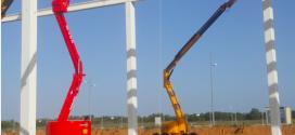 LOXAM-HUNE en el nuevo centro logístico de Decathlon en León