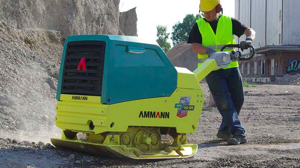 La principal compactadora de placa vibratoria de Ammann